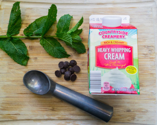 It's Friday!! Mint Chocolate Chip Ice Cream Ingredients