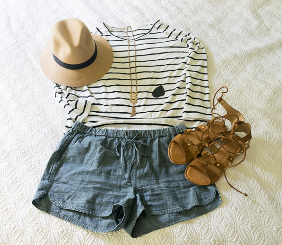 My 10 Item Summer Wardrobe Stripes and Chambray