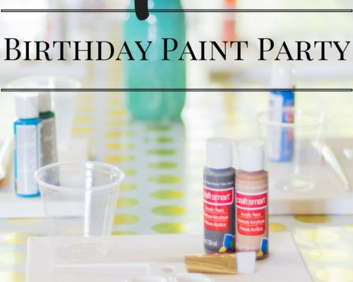 Simple DIY Birthday Paint Party