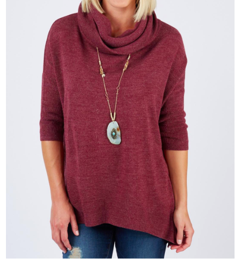 how to stay on trend with color fashion cowl neck