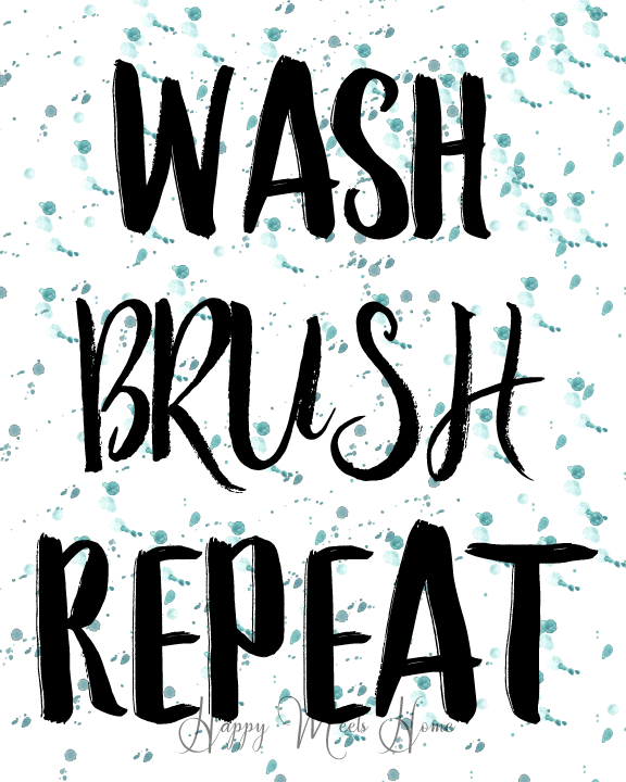 Free Printable Series: the Bathroom wash brush repeat