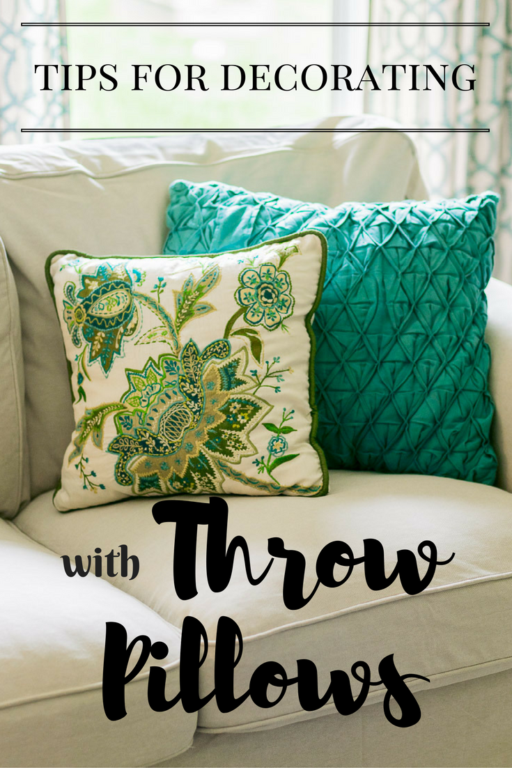 tips for decorating with throw pillows