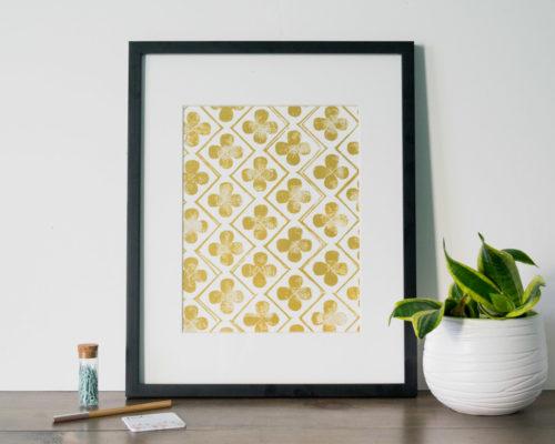 Giveaway Gold Art Print