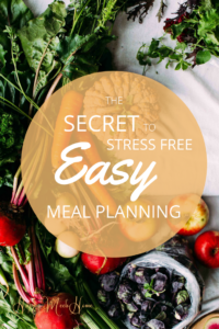 stress free easy meal plan