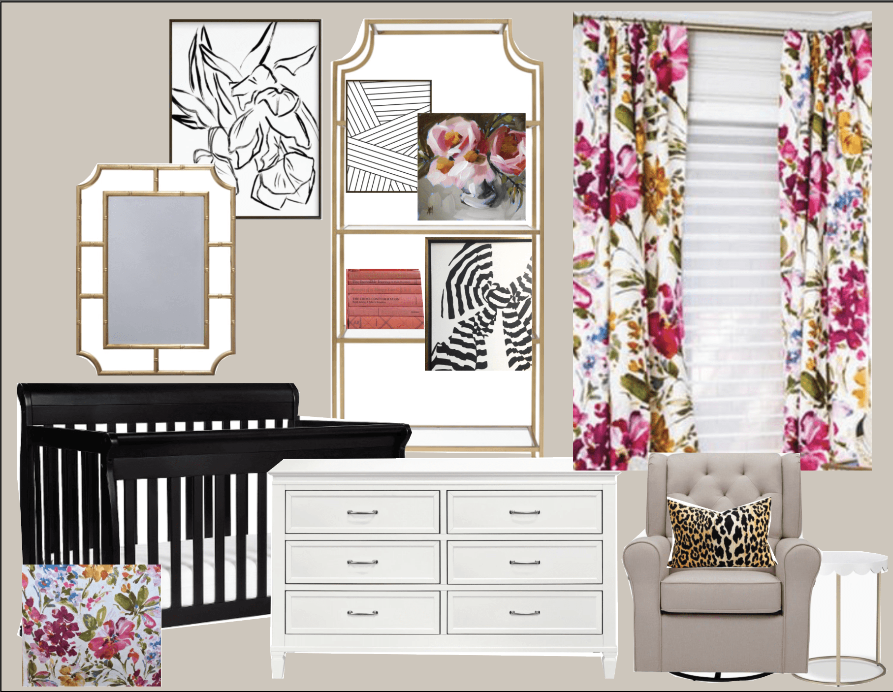 Bold Glam Little Girl Nursery